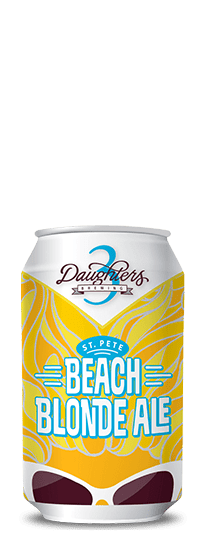3 Daughters St. Pete Beach Blonde Ale Lata 350ml