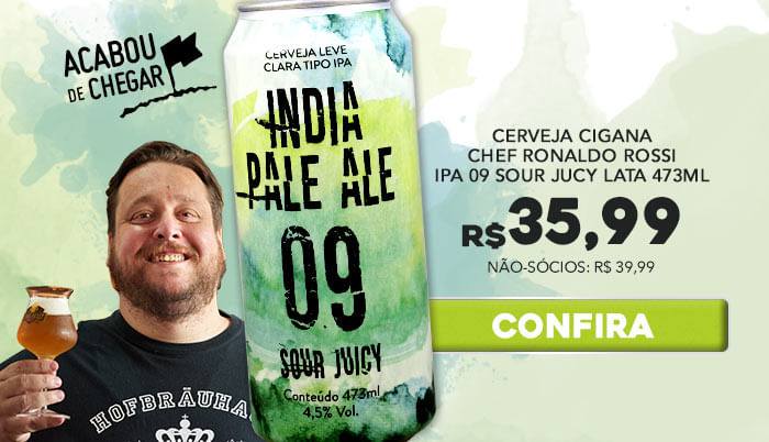 Chegou Sour Juicy IPA 09 do Chef Ronaldo Rossi!