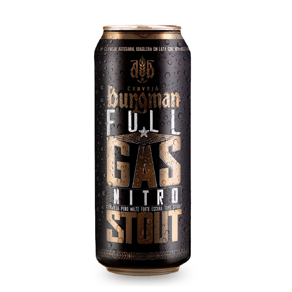 0860ca949f Cerveja Burgman Full Gás Nitro Stout Lata 473ml - The Beer Planet