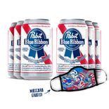 Pack-6-Pabst-Blue-Ribbon-American-Lager-350ml---Mascara-Gratis