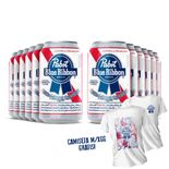 Pack-12-Pabst-Blue-Ribbon-American-Lager-350ml---Camiseta-Gratis